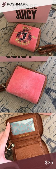 Juicy couture peach wallet AUTHENTIC 7/10 gently used peach juicy couture wallet Juicy Couture Bags Wallets