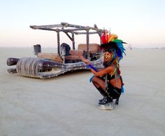 Feathers in the desert at Burning Man. #burningman #music #desertstyle