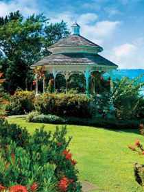Some really great destination wedding developments in the Caribbean - here's a hilltop gazebo at St. James'sClub Morgan Bay, Saint Lucia