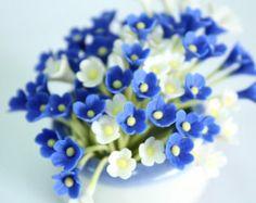 Miniatura del polímero arcilla flores fuentes por 1dollarcraft