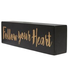 Gracie Oaks Follow Your Heart Wood Sign Wall Décor Compass Wall Decor, Tree Wall Decor, Metal Wall Decor, Starburst Wall Decor, Medallion Wall Decor, Padded Wall, Elephant Sculpture, Star Wall, Rustic Signs