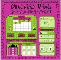 Calendar Math - Daily review of 16 common core skills with SmartBoard, Promethean, or PowerPoint $5.88