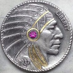 Custom Coins, Hobo Nickel, Coin Design, Coin Art, Bullion Coins, Metal Clay Jewelry, Coins For Sale, Antique Coins, Art Carved
