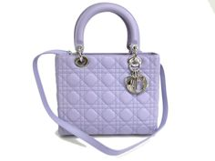 Auth Christian Dior Hand bag Lady Dior Leather Light Purple (BF077540) in Clothing, Shoes & Accessories, Women's Handbags & Bags, Handbags & Purses | eBay