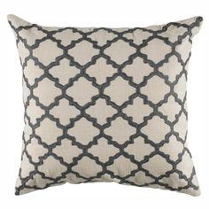 """18""""x18"""" Quatrefoil Trellis Down Filled Pillow 4 colors"""