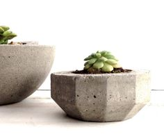 Urban Industrial Cement Planters, Modern Geometric Farmhouse Planters, Planter, Angular Concrete Planters, Grey Planter,Simple, Multifaceted on Etsy, $18.00