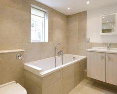 small rectangular bathroom design ideas - Google Search