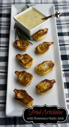 Fried Artichokes with Rosemary-Garlic Aioli | Carrie's Experimental Kitchen #appetizer