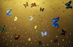 Damien Hirst- Midas and the Infinite, which mixes butterflies with industrial diamonds