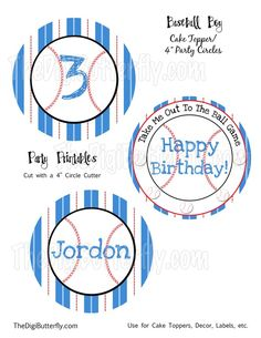 baseball themed first birthday party