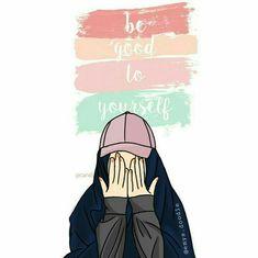 Apna bhi khyal rakhain or doosron ka bhi khyaal rakhain. Anime Muslim, Muslim Hijab, Cartoon Sketches, Cartoon Pics, Hijab Drawing, Moslem, Islamic Cartoon, Modele Hijab, Hijab Cartoon