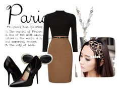 """""""Paris"""" by faeryrain ❤ liked on Polyvore featuring Phase Eight, Gucci, Burberry, paris, polyvorecontest and fallgetaway"""