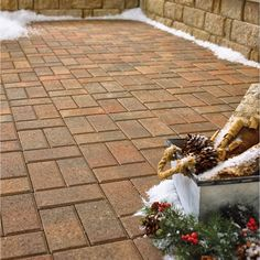 Simply Create A Stylish Walkway Between Spaces With The Help Of This Anchor  Autumn Blend Concrete Holland Paver.