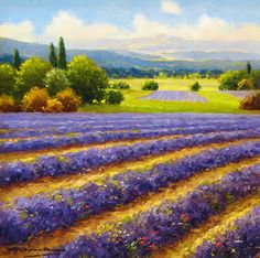 "Gerhard Nesvadba ""Visions of Lavender"" http://www.artshopnc.com/component/content/article/318.html"