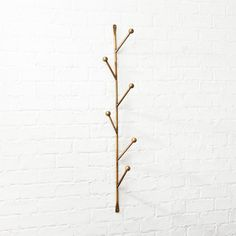 Shop Barker Vertical Wall Mounted Coat Rack Sculptural storage supports hats coats bags on the vertical Ideal for large and small spaces alike compact branchlike design h. Home Decor Mirrors, Entryway Storage, Wall Mounted Coat Rack, Modsy, Wall Mount, Wall Hooks, Modern Wall, Rack, Modern Shelving