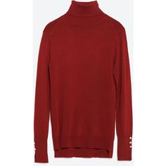 Zara Polo Neck Sweater ($30) ❤ liked on Polyvore featuring tops ...