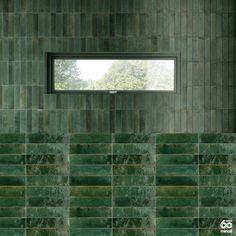 Brick Tiles, Brick Flooring, Wall Tiles, Modern Landscape Design, Modern Landscaping, Bathroom Interior Design, Kitchen Interior, Green Facade, Sea Green Color