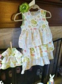 Spring dresses for little girls and their dollos.