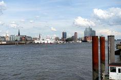 Wandern auf dem E1 durch Hamburg.