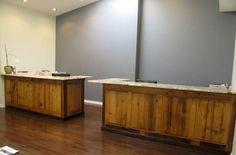 Barnwood reception desk | Barnwood Furniture | Furniture From The Barn | Reclaimed Barnwood ...reception desk style