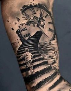Our Website is the greatest collection of tattoos designs and artists. Find Inspirations for your next Clock Tattoo. Search for more Tattoos. Best Sleeve Tattoos, Tattoo Sleeve Designs, Forearm Tattoos, Body Art Tattoos, Tattoo Art, Trendy Tattoos, Tattoos For Guys, Tatoos Men, Heaven Tattoos