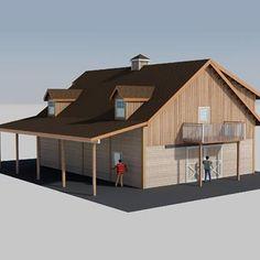Denali Barn Apartment 48 Blueprint Planning Kit. Barn With Living  QuartersBarn ...