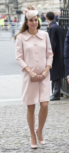 Duchess Kate: Kate Pretty in Pink for Commonwealth Observance & Giveaway Winner!
