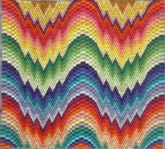 bargello, makes interesting accent piece upholstery