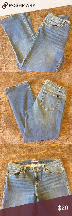 Tommy Hilfiger boot cut jeans size 8S Tommy Hilfiger boot cut jeans size. Gently used. Size 8 S the inseam is 26 1/2 inches Tommy Hilfiger Jeans Boot Cut