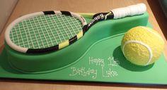 Takes the Cake - Birthdays Tennis Cupcakes, Tennis Cake, Tennis Party, Birthday Cake For Boyfriend, Tennis Crafts, Realistic Cakes, Dad Cake, Sport Cakes, Custard Cake
