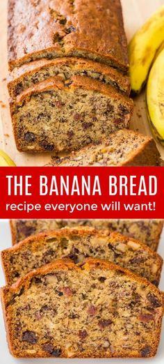 Banana Bread Recipe Video, Quick Banana Bread, Super Moist Banana Bread, Banana Bread Recipes, Homemade Banana Bread, Banana Bread With Buttermilk, Banana Walnut Bread Healthy, Bananna Nut Bread, Leftover Banana Recipes