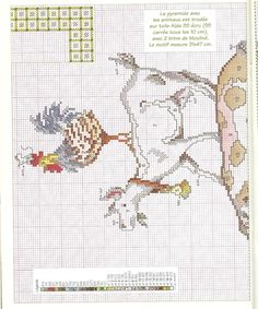 animaux de la ferme * point de croix * cross stitch farm