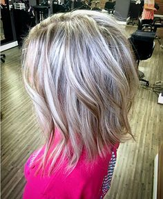 Soft Flaxen Blonde Curls - 40 Hair Сolor Ideas with White and Platinum Blonde Hair - The Trending Hairstyle Blonde Lob Hair, Platinum Blonde Hair, Balayage Hair, Haircolor, Ash Blonde Short Hair, Medium Hair Styles, Curly Hair Styles, Gray Hair Highlights, Hair Color And Cut