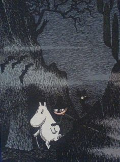 Moomins by Tove Jansson. Tove Jansson, Moomin Valley, A Silent Voice, Children's Book Illustration, Fairy Tales, Images, Animation, Cartoon, Retro