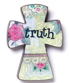 'Truth' Wood Cross #zulily #zulilyfinds