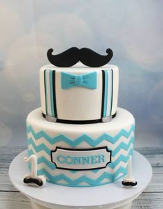 Chevron and moustache 1st birthday