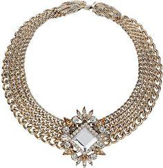 Premium Four Row Stone Collar - Topshop
