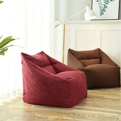 Waterproof Beanbag Chair Lazy Sofa Indoor Seat Chair Cover Lazybag Puff Sofas Large Bean Bag Cover Armchair Washable Cozy Game - Peaceloversart by Miranda Single Couch, Meditation Chair, Mindfulness Meditation, Large Bean Bags, Bean Bag Sofa, Bean Bag Covers, Small Apartment Living, Sofa Seats, Large Sofa