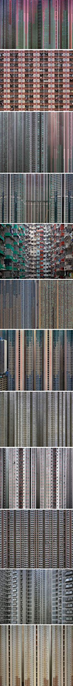 Michael Wolf's Architecture of Density project   - Hong Kong's  high-rise architecture via Wired.com