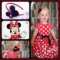 Bespoke Minnie Mouse order for a lucky young lady off to Disney Land #girls#hairaccessories#handmade#bows#headbands#babyheadbands#babiesofinstagram#babygirl#cute#disney#satin #aliceband #customerfeedback #minniemouse#cute #bespoke