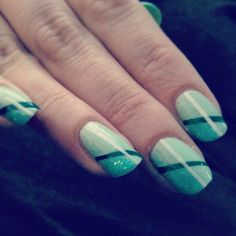 Nail striping with tape!