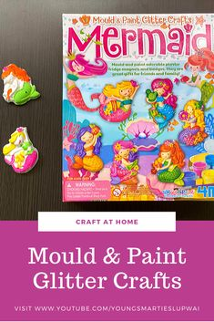 Fun and pretty crafts for girls to do at home. It can also be made into adorable plaster fridge magnets and badges too! Great for crafts at home and parties! Youtube Videos For Kids, Home Crafts, Diy Crafts, Glitter Crafts, Home Learning, Character Education, Crafts For Girls, Science Experiments, Plaster