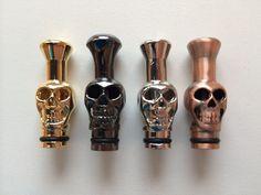 (only $6.95 on eBay) NEW Metal Skull Drip Tip  #vape #vapelife