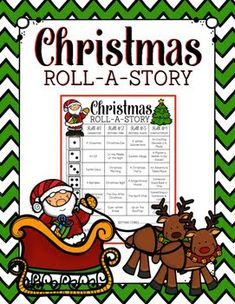 This Christmas Roll-a-Story is a fun narrative writing assignment, in which students roll dice to determine their character, setting, and conflict. Christmas Writing, Christmas Math, Holiday Activities, Writing Activities, Holiday Games, Group Activities, Therapy Activities, Teaching Resources, Roll A Story