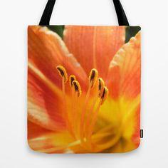 Orange lily macro Tote Bag SALES: 1  Flower, nature, flora, blooming, blossom, closeup, close-up, lily, florescence, orange,  macro