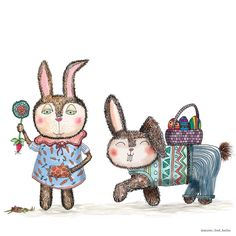 The crazy Bunny Couple and @mister_fred_berlin are wishing you happy easter! We hope you will find many colorful easter eggs :) Das verrückte Häschen-Pärchen und  @mister_fred_berlin wünschen allen frohe Ostern und viele bunte Ostereier !  I'd be happy if you vote for my bunny couple at @artist.comp: https://www.instagram.com/p/BDbnGN0B3WC/  Ihr bereitet mir eine große Freude, wenn ihr für mein Bunny-Pärchen abstimmen würdet:  https://www.instagram.com/p/BDbnGN0B3WC/  #happyeaster #funny…