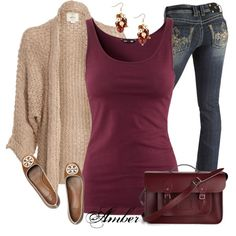 Claudia by stay-at-home-mom on Polyvore  Still a cute outfit!!  Even if I'm not a stay at home mom...yet... ;)