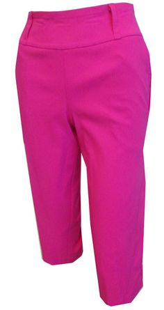 """Look your best on the course, try our Hot Pink Shine Bette & Court/Swing Ladies 28"""" Pull On Golf Capris! #golf #fashion #lorisgolfshoppe"""