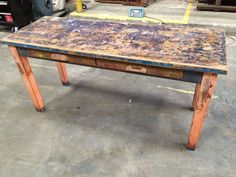 Table, Narrow, 2 Drawer from Black Dog Salvage
