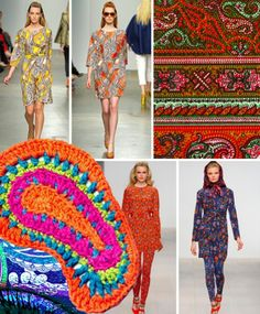 Paisley Inspiration on the runway